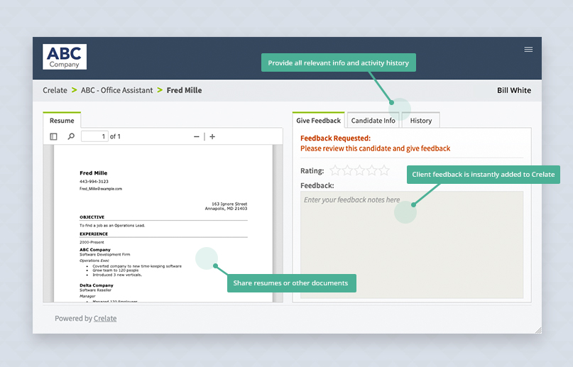 Client Portal UI feedback